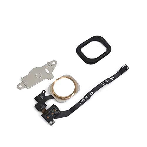 Home Button Key Flex Cable Metal Bracket Rubber Gasket for iPhone 5s (Gold) (Flex Flip Cable)