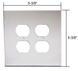 C.R. LAURENCE PMP203 CRL Clear Double Duplex Acrylic Mirror Plate by C.R. ()