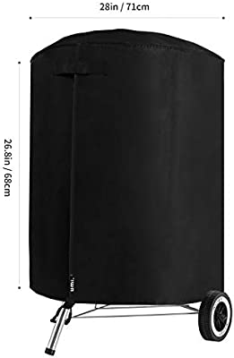 Dokon Barbecue Cover Kettle BBQ Grill Waterproof Breathable Oxford Round,