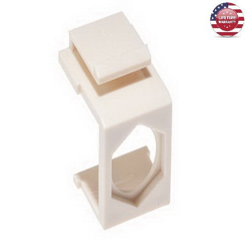 25 Pack X Feed-Thru Keystone Insert - Ivory - By Nexiron (Feed Thru Insert)