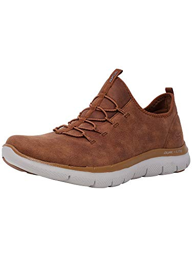 Shoe Sport Flat Brown (Skechers Sport Women's Flex Appeal 2.0 Top Story Sneaker,chestnut,7.5 M US)
