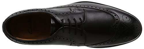 Clarks Coling Limit, Derby Uomo Nero (Black Leather)