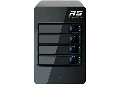 (HighPoint RocketStor 6414S 6Gb/s SAS/SATA 4-Bay Storage Tower Enclosure)