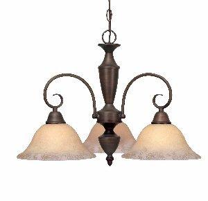 Centennial Three Light - Golden Lighting 139X-ND3 RBZ Centennial Three Light Nook, Rubbed Bronze Finish