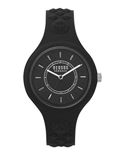Versus by Versace Women's FIRE Island Bicolor Stainless Steel Quartz Watch with Silicone Strap, Two Tone, 215 (Model: VSPOQ2018)