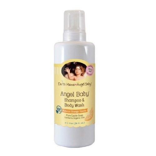 Earth Mama Angel Baby Angel Baby Calming Lavender Shampoo & Body Wash 34 Oz ( 1 Litre)