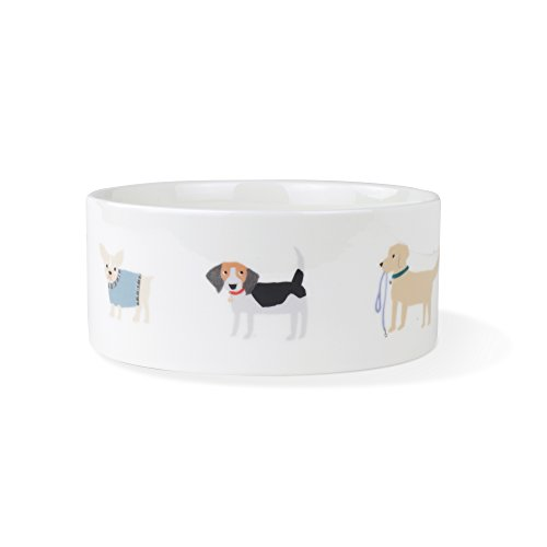 FRINGE STUDIO Happy Breeds Large Straight Bowl - Studio Bowl Pet Ceramic