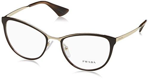 Prada Cinema PR55TV Eyeglass Frames DHO1O1-52 - Brown/Pale Gold PR55TV-DHO1O1-52