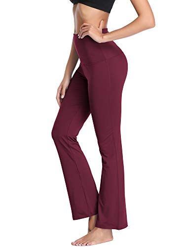 58c212e5f51df Neleus Women s Tummy Control High Waist Bootleg Yoga Pants