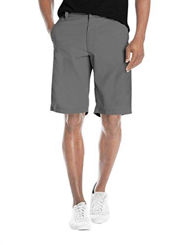 Agile Mens Super Comfy Flex Waist Cargo Shorts ASH45177 Light Grey 32 (Shorts Climbing Spandex)