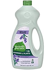 Seventh Generation Dish Liquid Refill for clean dishes Lavender Flower and Mint Scent 0 percent synthetic fragrances or dyes 1.47 L