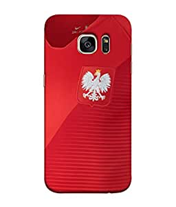 ColorKing Football Poland 07 Red shell case cover for Samsung S7 Edge