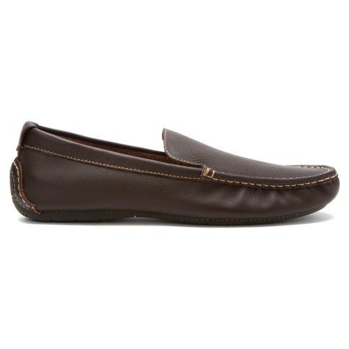 Vionic Hombres Parker Orthotic Slip On Moc Toe Loafer Zapatos De Chocolate