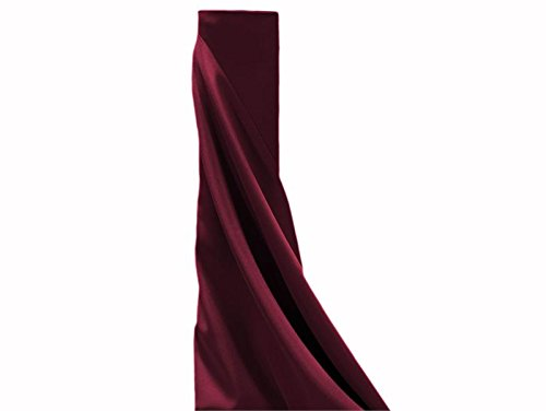 BalsaCircle 54-Inch x 10 Yards Burgundy Polyester Fabric by The Bolt - Wedding Party Decorations Sewing DIY Crafts Costumes