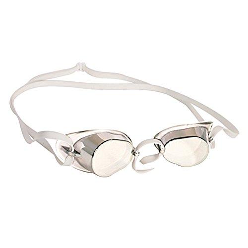 (Kiefer Swedish Racer Swim Goggle with UV and Anti-Fog Lenses, Clear)