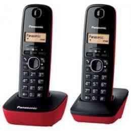 Panasonic KX-TG1612SPR - Teléfono inalámbrico digital (identificador de llamada 50 números, agenda 50 posiciones, duo), Negro