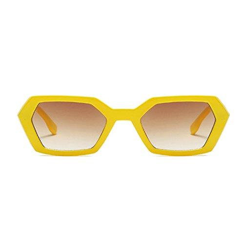 sol Green Aiweijia Summer de de Square Gafas Fashion Polígono Vintage Goggle Mujeres sol de Amarillo Leopard Gafas UV400 Frame RnCxwnF