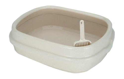 IRIS Open Top Cat Litter Box with Scoop, Tan by IRIS USA, Inc.