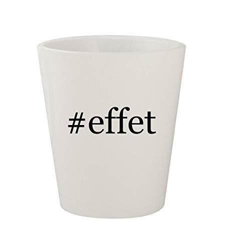 #effet - Ceramic White Hashtag 1.5oz Shot Glass