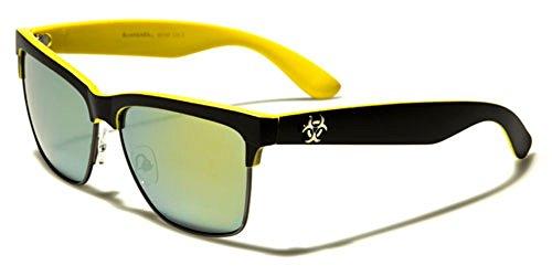 Biohazard - Lunette de soleil - Femme Multicolore Bigarré Black/yellow/yellow-blue mirror lens