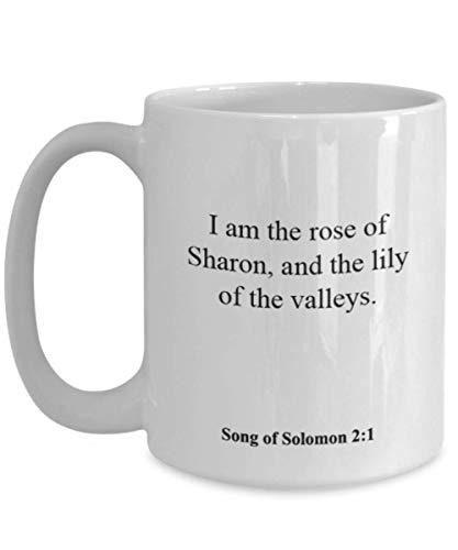 Song of Solomon 2 1 Coffee Mug/Cup - Inspirational Bible Verse/Psalm Gift: