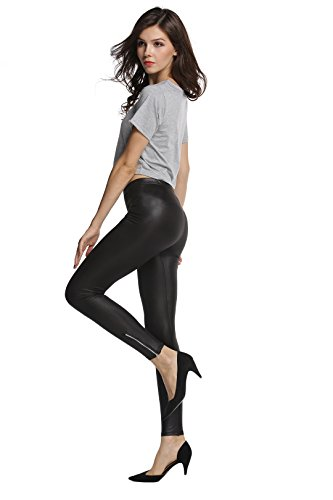 Black Leather Pants For Women - 6