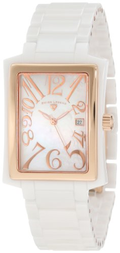 Swiss Legend Women's 10034-WWRA Bella White Mother-Of-Pearl Dial Watch