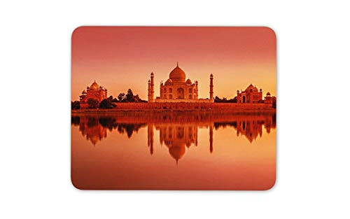 Taj Mahal India Sunset Mouse Mat Pad - Yamuna River Agra Mouse Pad Mousepad -13276