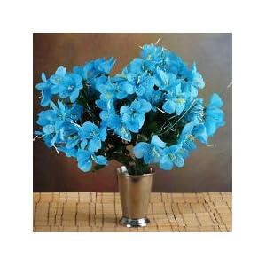 6 Turquoise Bushes Silk Mini PRIMROSES Wedding Flowers Bouquets Decorations Sale 26