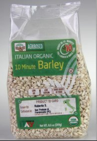 Agribosco Organic Italian 10 Minute Barley – 8.8 Oz (Case of 12) by Agribosco