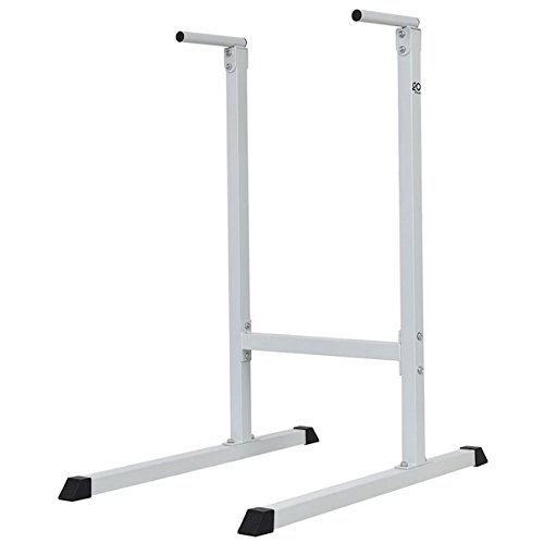 Dip Station Stand Freestanding Pull Push Chin Up Bar Tower Raise Stand Home Gym Power Fitness Workout Exercise Intense Upper Body Shoulders Delts Triceps Workout Heavy Duty Steel by HPW