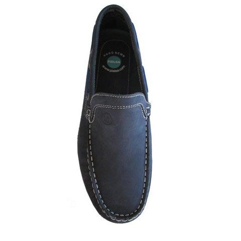Pielsa 12141 Azul Marino - Mocasín de cuero para hombre: Amazon.es: Zapatos y complementos