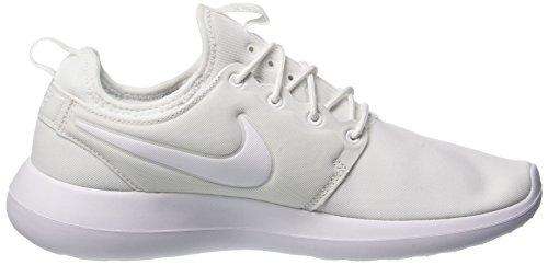 Bianco Corsa Da Scarpe Two Platinum pure white Nike Roshe Donna white gwRq6nYafx