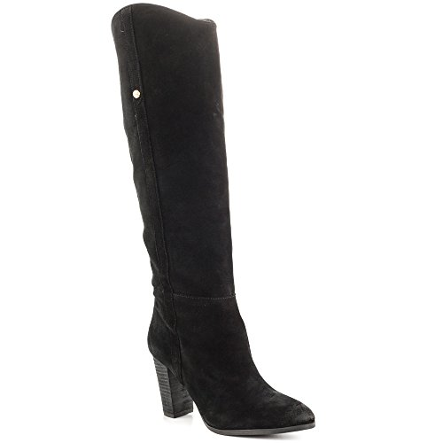 Guess Boots Women - GUESS Womens Honon Suede Closed Toe Knee High Fashion, Black Suede, Size 8.0