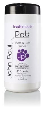 JOHN PAUL PRODUCTS LLC - PET WIPES TEETH & GUM 45 COUNT