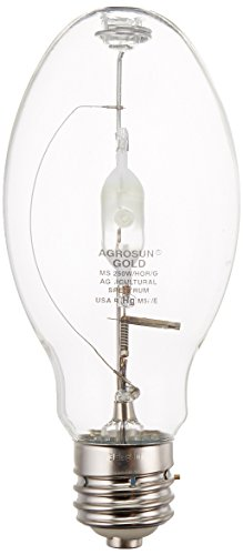 Agrosun BUSUHL250HZAS 250-Watt  Gold Halide Horizontal High O (Bulb Agrosun Halide)