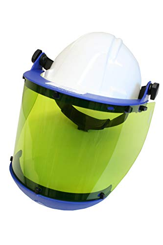National Safety Apparel H50HAT12CALCAFS High VLT Anti-Fog Faceshield with Slotted Hard Hat and Chin Guard, One Size (Shield Chin Guard)
