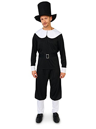 Party Time Mfg. Co. - Plymouth Pilgrim Male Adult Costume - Large/X-Large ()
