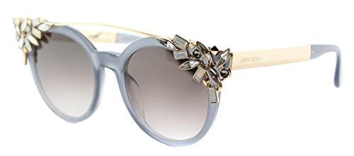 Jimmy Choo Vivy/S PR7 Opal/Grey / Gold Vivy/S Round Sunglasses Lens Category from JIMMY CHOO