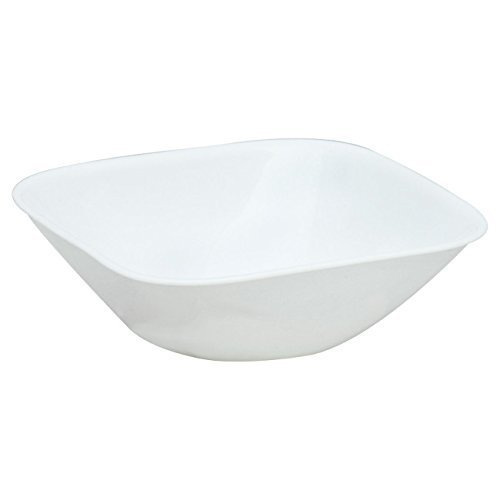 Corelle Square 22-Ounce Soup/Cereal Bowl, White, Set of 6 (1117146) (Bowls Square)