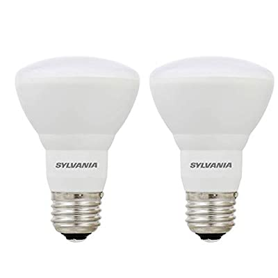 Sylvania R20 35W Energy Saving Dimmable Soft White 2700K LED Flood Light Bulb (2 Pack)
