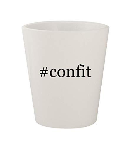 #confit - Ceramic White Hashtag 1.5oz Shot Glass