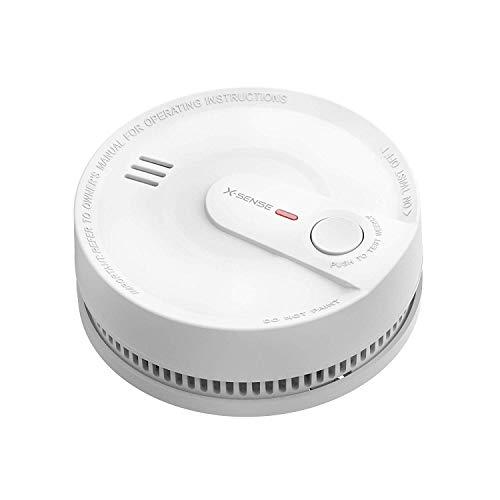 X-Sense Smoke Alarm Detector, 10-Year Battery Life Intelligent Fire Alarm with Photoelectric Sensor, Conforms to EN14604…