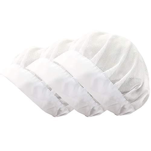 - Cityelf Chef Hat Vent Mesh Beanie Adjustable Kitchen Restaurant Workshop Hair Control Cap Net 3pcs