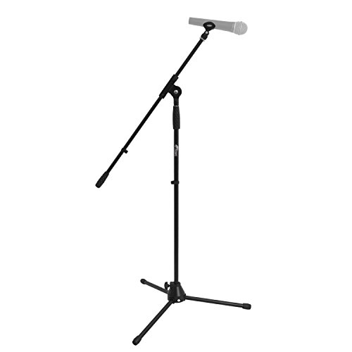 Tiger Music MCA7-BK Professional Boom Microphone Stand with Free Clip - Black