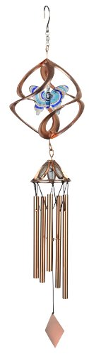 - Red Carpet Studios Cosmix Copper Wind Spinner and Chime, Butterfly