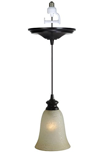 Brushed Bronze Pendant Light, CONVERSION KIT, BRUSHED (Pendant Light Hardwire Kit)