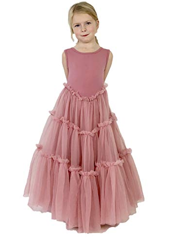 Jennifer and June Pink Fluffy Layered Tutu Flower Girl Ballerina Toddler Dress. (4T) -