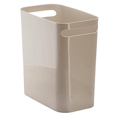 InterDesign Una Wastebasket Trash Taupe