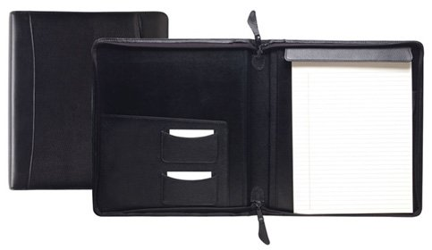 Raika SF 143 BLK Standard Zipper Writing Pad - Black by Raika